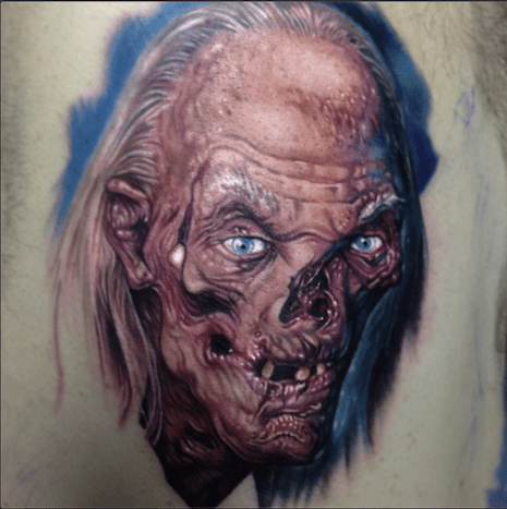 Paul Acker Zombie Tattoo Color Horror