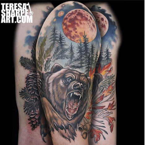 This bear and forest scene is incredible.
