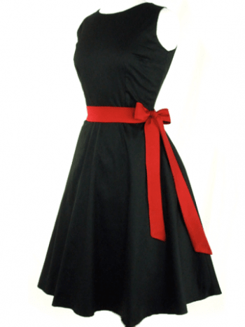 A classic circle LBD with a red bow is everything elegant and sexy should be. Buy it here.