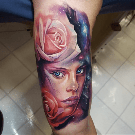 Everything about this tattoo is beautiful. Work by Tyler Malek.