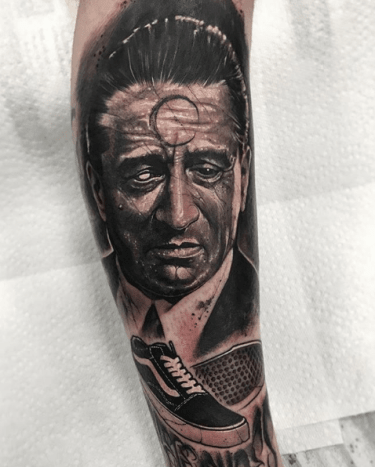 Tattoo @anrijsstraumeFirst up, possibly the most recognizable tattooer at the convention, Liverpool's Anrijs Straume whipped out 3 incredible pieces this weekend.