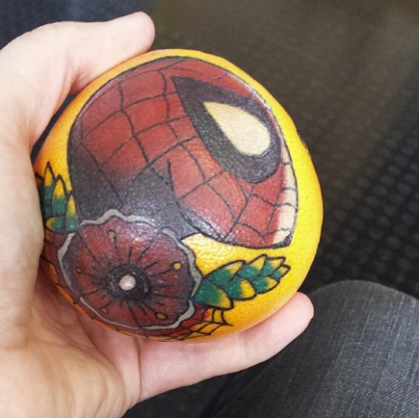 Spiderman lemon! Tattoo: Dafydd Jones
