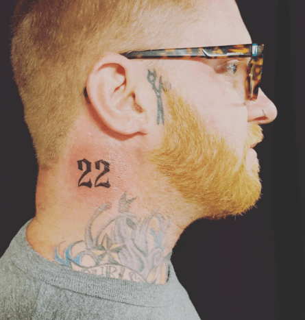 """Photo: Brandon Jay Andrus/InstagramThe """"22"""" tattooed on Brandon Andrus' neck, which was mistaken for a gang stamp, has a different – and totallyhonorable – meaning. The veteran – who has done two tours in Iraq – had the tattoo done about a year ago, both as a remembrance and to bring about awareness about the average number of veterans who reportedly commit suicide every day due to PTSD (22). """"I wanted to get something that would raise awareness and people would ask me 'What's that 22 on your neck for? Is that your basketball number or your baseball number?'"""" Andrus said to Arizona's 12 News. """"I would say 'No,' and I would tell them about it to try to raise awareness."""" Despite explaining this to the restaurant's staff members, Andrus and his family were still asked to leave."""