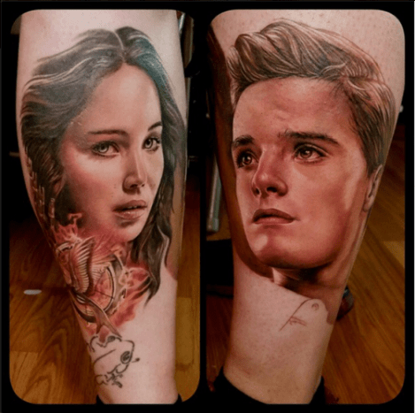 How amazing are these Hunger Games portraits?