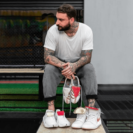 """It all started when I wore a pair of 1985 Chicago Air Jordan 1's that I borrowed from my cousin. My older brother and his friends were playing basketball when they spotted my footwear. They were hyped on them, saying I had the """"dopest shoes"""" I immediately realized this was a way to be cool. I began networking and made friends with the people at Footlocker and they'd backdoor me new drops that I'd take to school before anyone else had them."""
