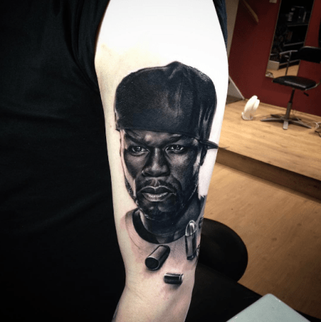 Here's a dope portrait of G-Unit's head honcho, 50 Cent, done by Matt Lunn.