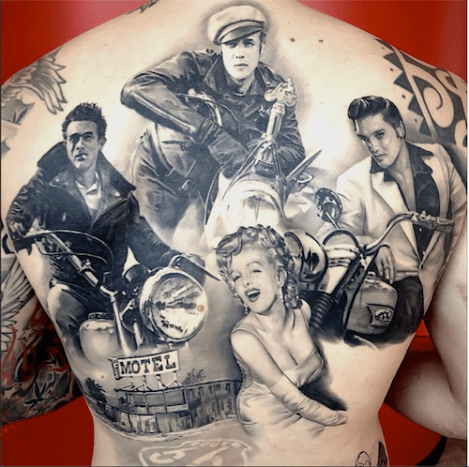 This icon-filled back piece is absolutely mind-blowing.
