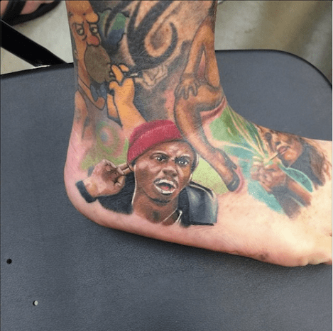 Amazing and hilarious tattoo of Tyrone Biggums.