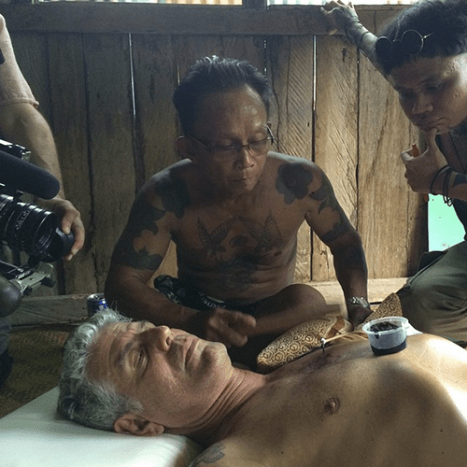 Anthony Bourdain gets a hand-tap tattoo in Sarawak, Malaysia.