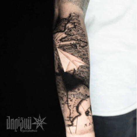 These Paper Plane Tattoos Will Blow You Away Tattoo Ideas