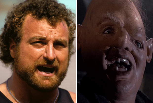 "Photo via Warner BrothersGeneration after generation of kids grew up loving Lotney ""Sloth"" Fratelli in The Goonies, what they didn't know was that the man under that mask used to be a NFL star. John Matuszak was a star on the Oakland Raiders before donning the pointed head of Sloth."