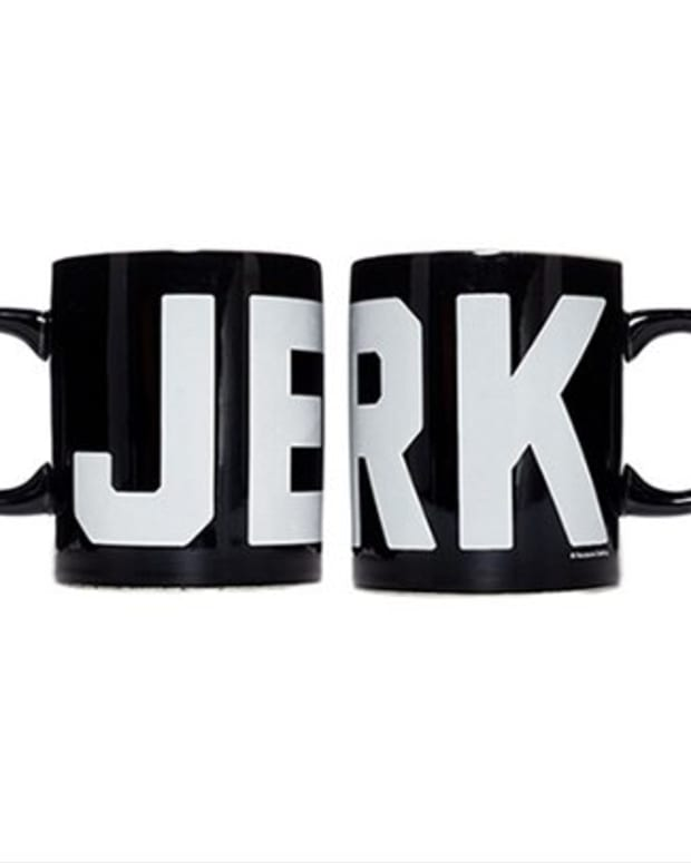 "Available at INKEDSHOP.COM: ""Jerk"" Mug by Sourpuss"