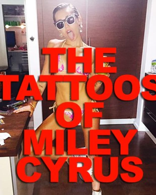 the tattoos of miley cyrus