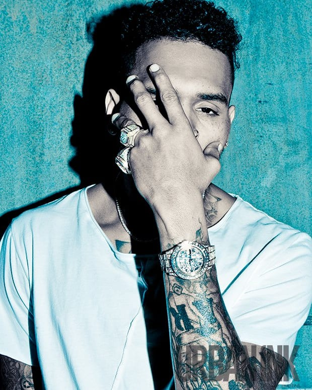 Image of Chris Brown from his feature in Urban Ink's May 2016 issue. Photo: Miguel Starcevich.