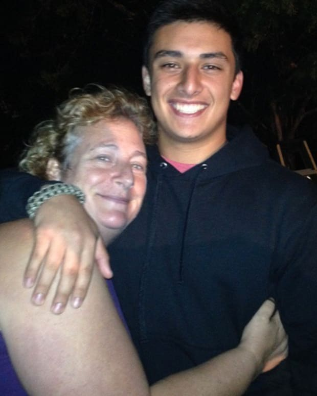 Susan Jonesia and her son, Joshua, who both got tattoos when he returned from Marine boot camp. Photo: Instagram.
