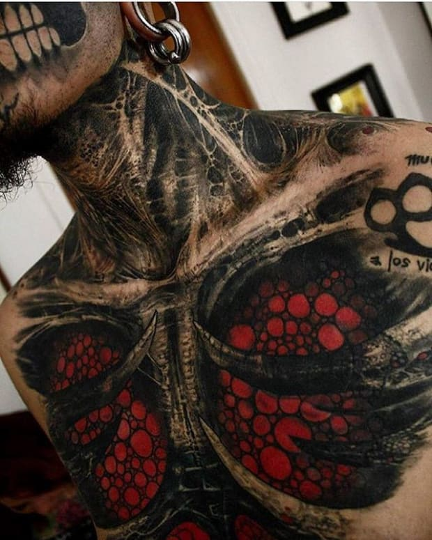 Male Chest Tattoo