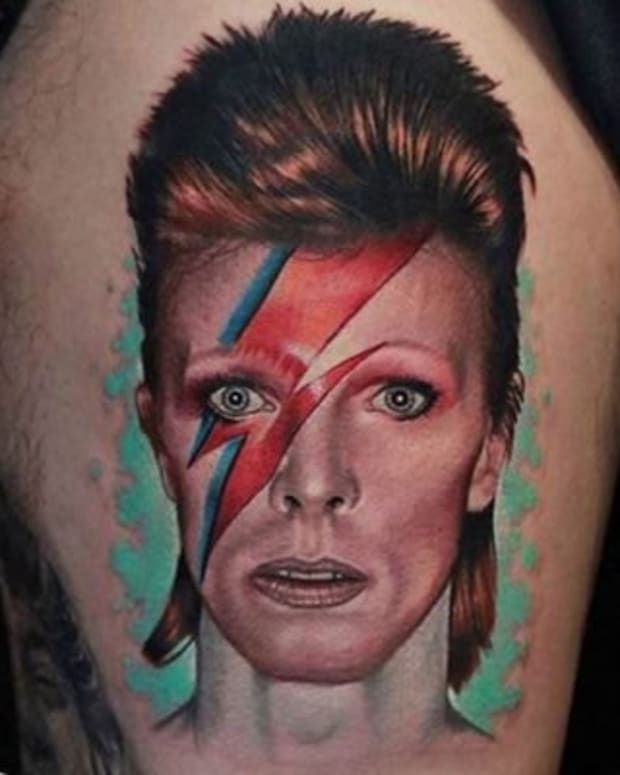 David Bowie Tattoo Aladdin Sane