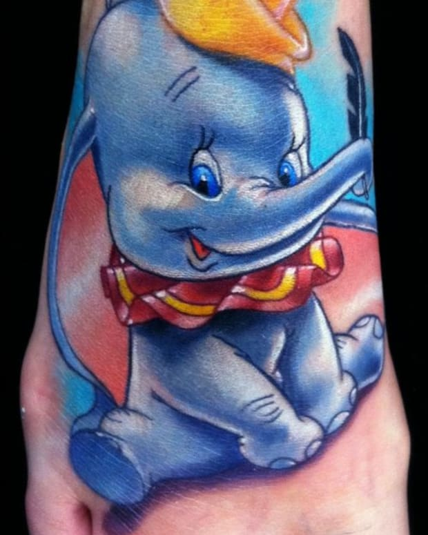 6 Dumbo foot tattoo by Brent-Olsen