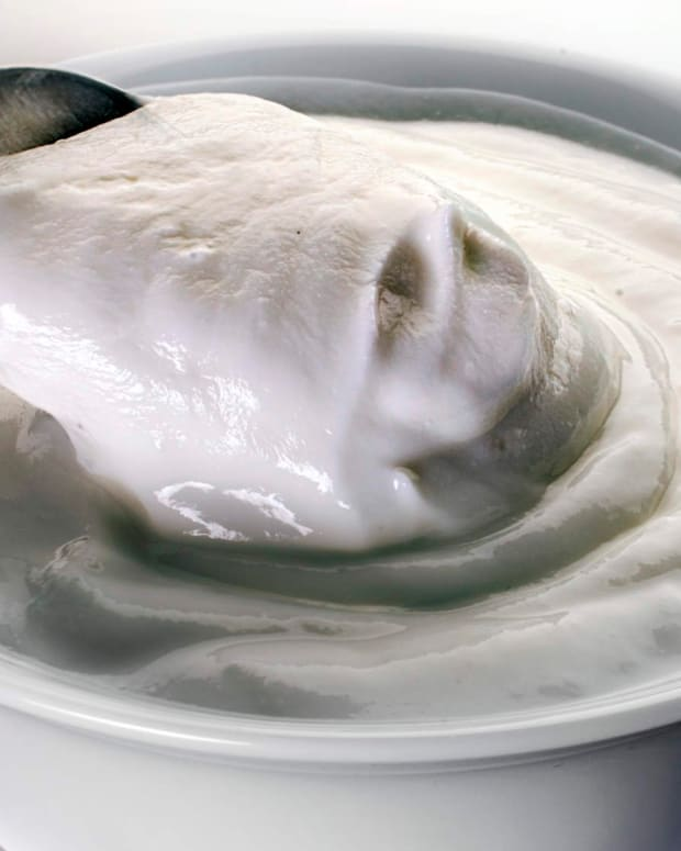yogurt in dish