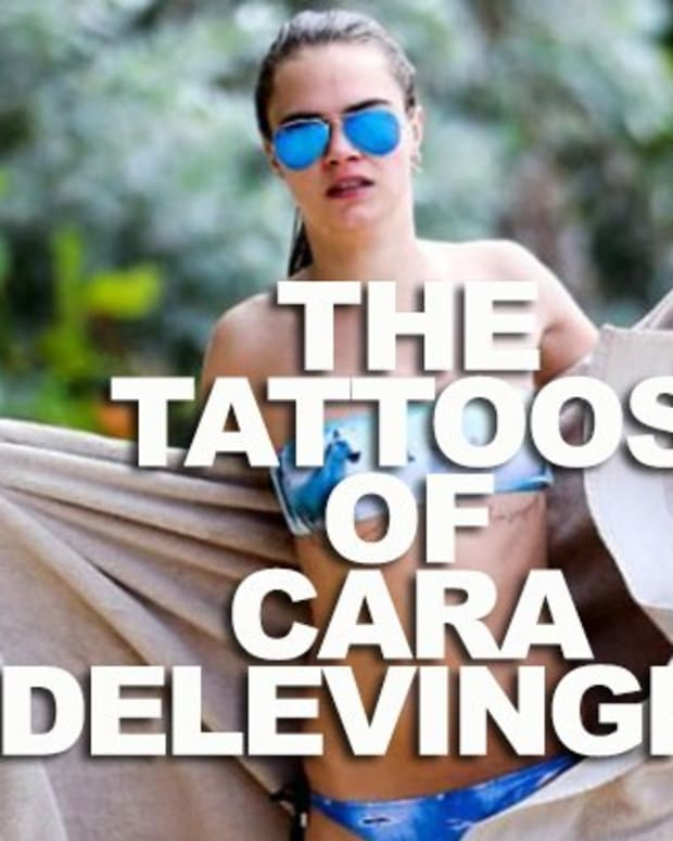 tattoos of cara delevingne