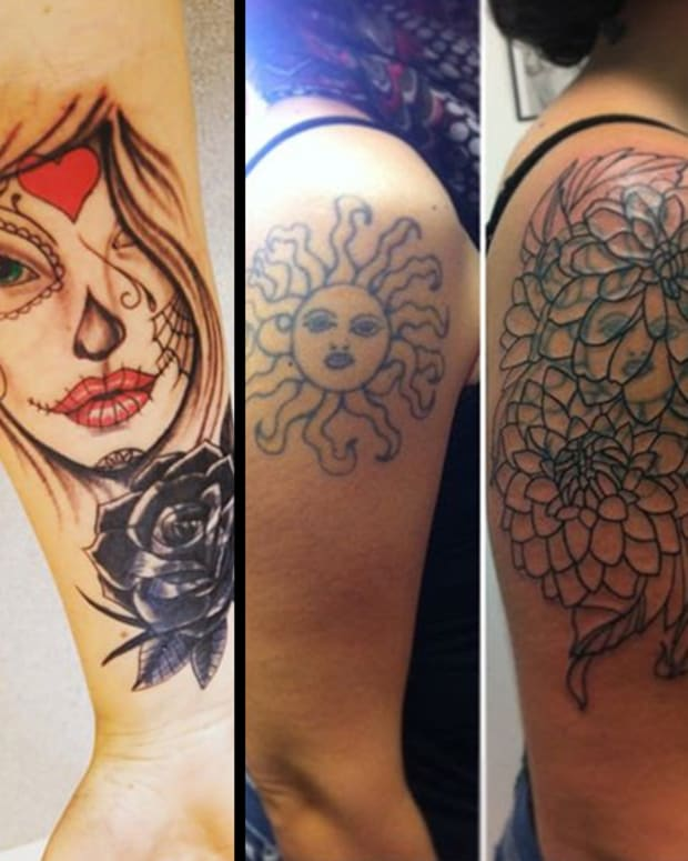 Cover up tattoos, best cover ups, before and after tattoo cover ups