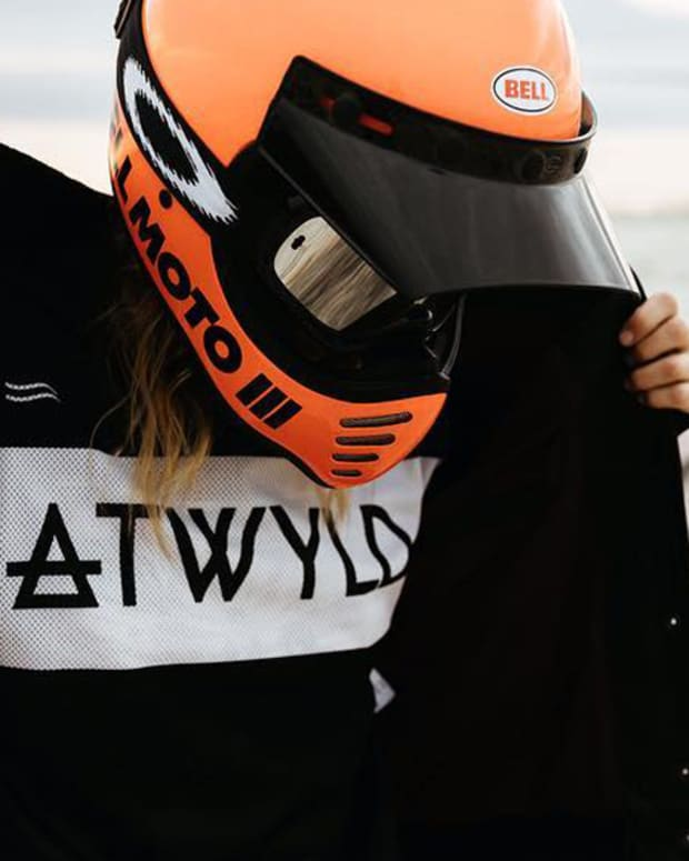 These Tattooed Women Founded Atwyld For The Love of The Voyage, ATWYLD, moto gear & apparel brand, women's moto gear & apparel, Anya Violet, Corinne Lan Franco, Jaime Dempsey, INKED