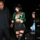 Jenner gave Clover from Power Puff Girls an adult upgrade with this leggy Halloween ensemble.