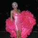 The singer was a pink fantasy for Heidi Klum's 17th Annual Halloween Party.