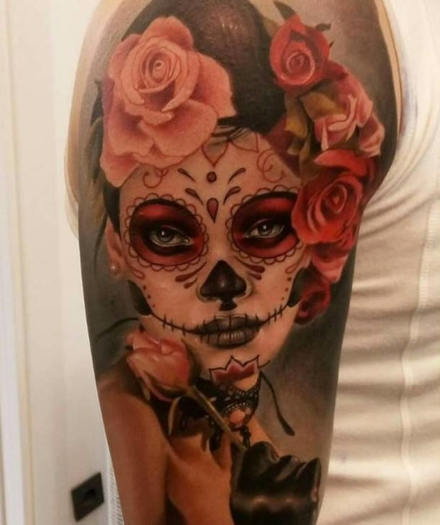 Day Of The Dead Tattoos Inked Magazine Photos Tattoo
