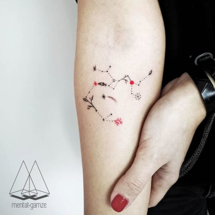 Mini Cooper Models >> 12 Constellation Tattoos for Your Astrological Sign ...