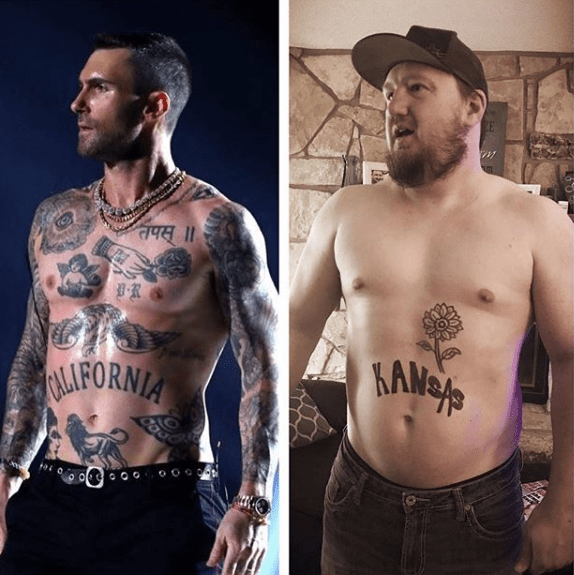 North State Auto >> Adam Levine's Stomach Tattoo Recreated in All 50 States - Tattoo Ideas, Artists and Models
