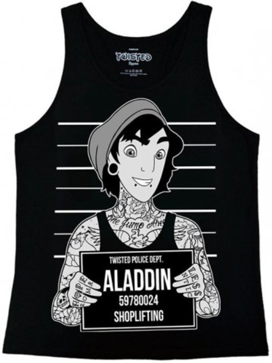 "Available at INKEDSHOP.COM: Women's ""Alladin"" Mugshot Tank by Twisted Apparel"