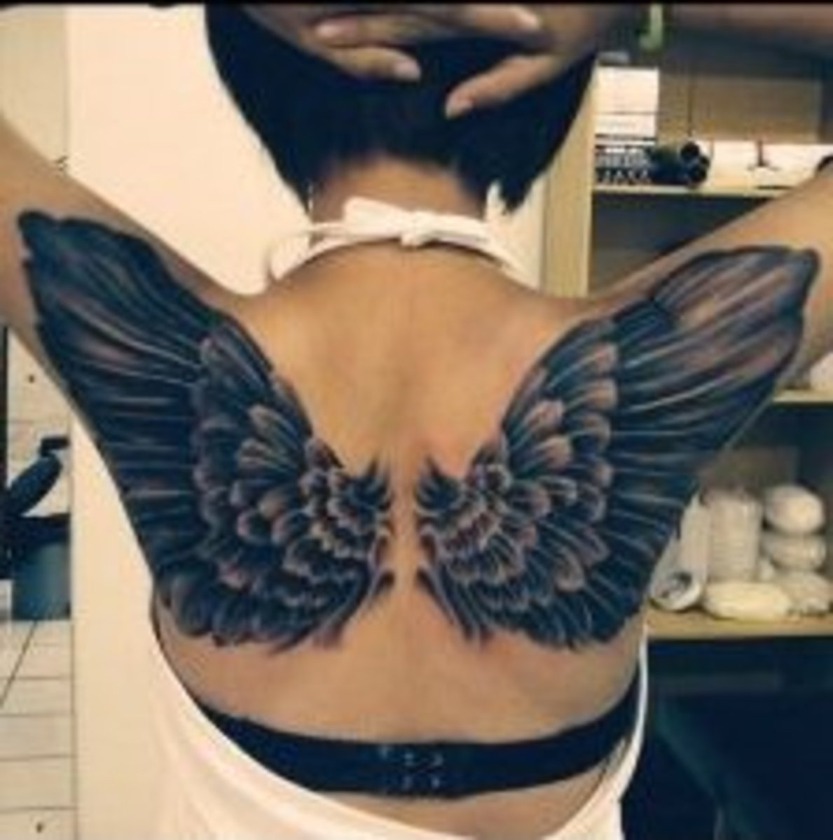 back tattoo wings