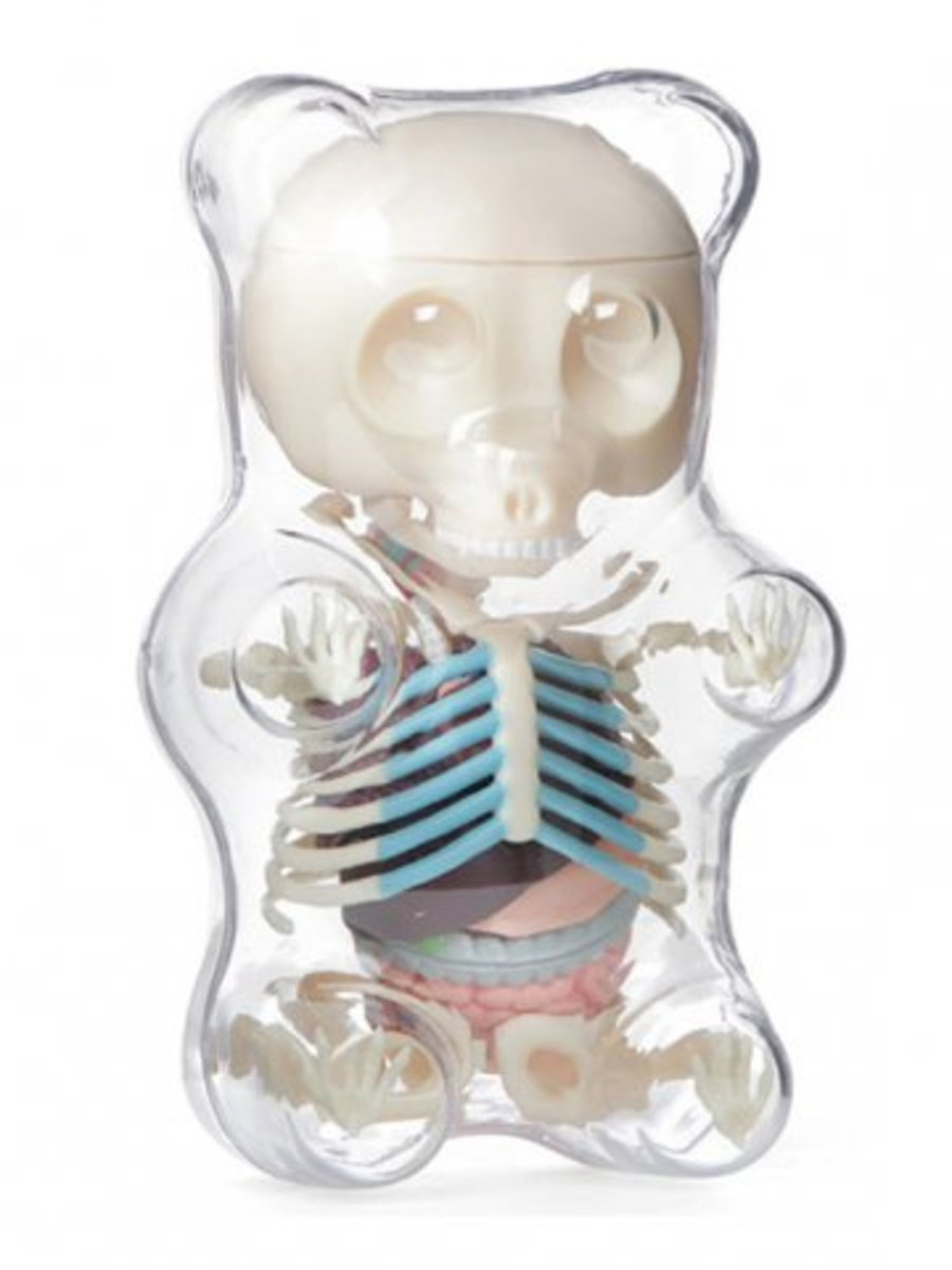 Available at INKEDSHOP.COM: Anatomy Gummy Bear