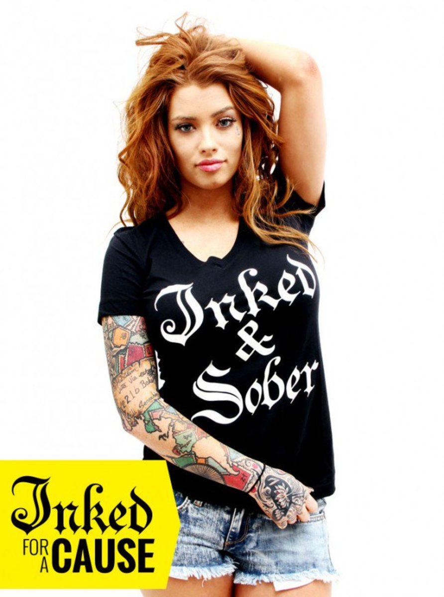 """Available at INKEDSHOP.COM: Women's """"Inked & Sober"""" Tee by Inked"""