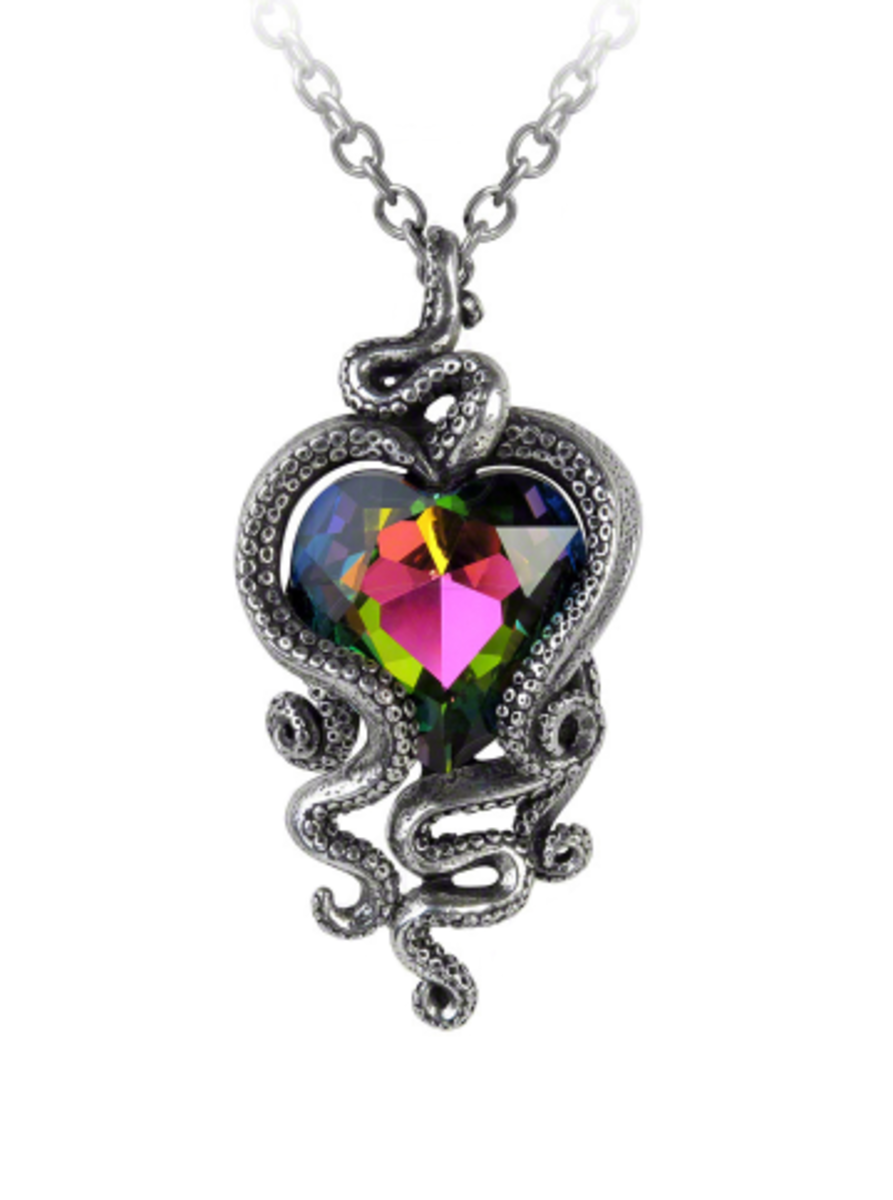 "Available at INKEDSHOP.COM: ""Heart of Cthulu"" Pendant by Alchemy of England"