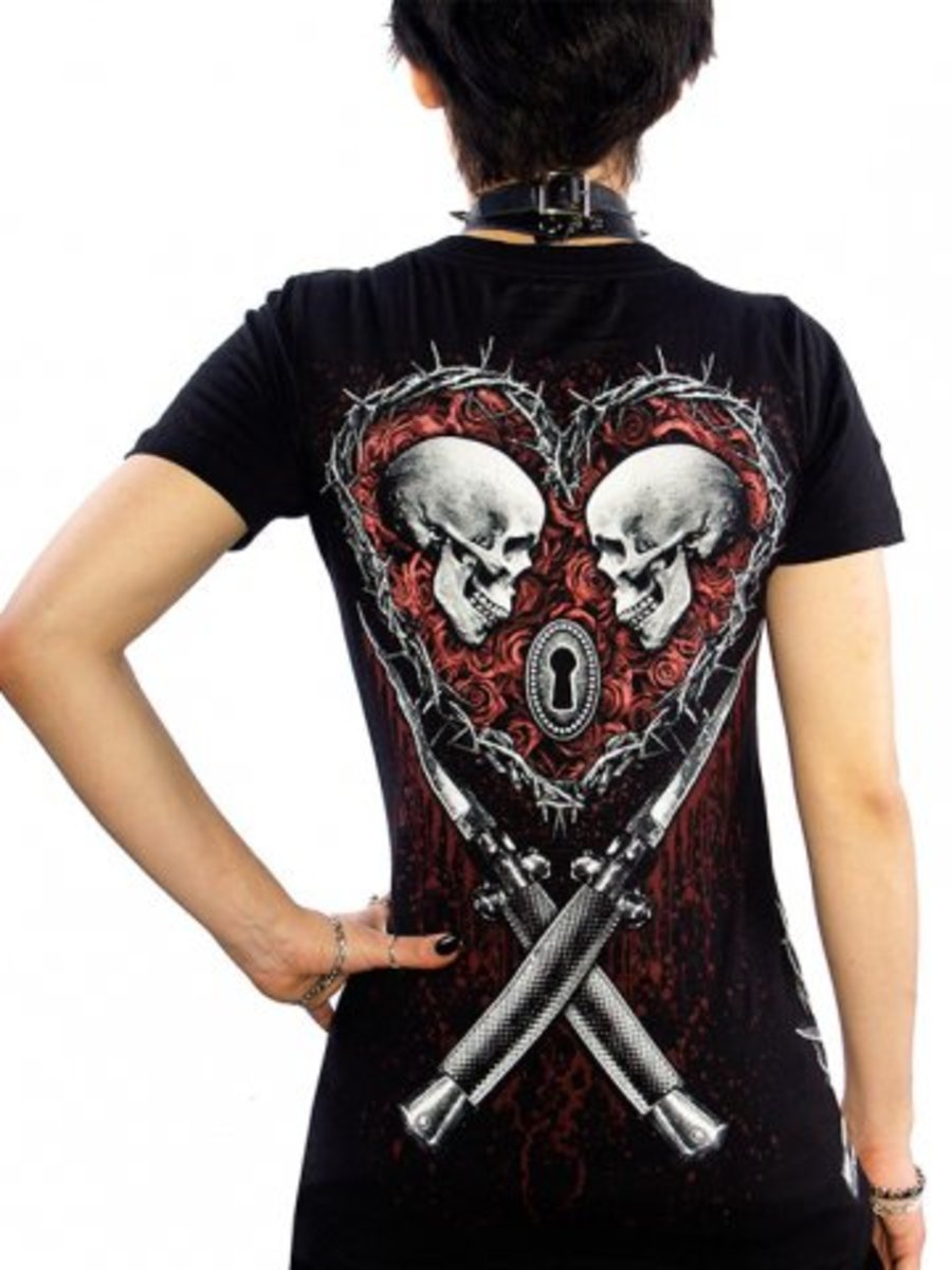 "Available at INKEDSHOP.COM: Women's ""Till Death"" Tee by Skygraphx"