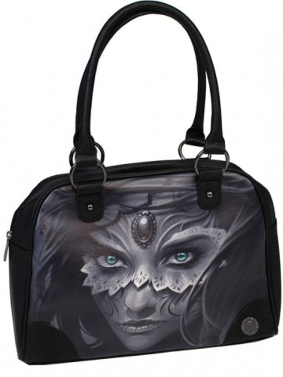 "Available at INKEDSHOP.COM: Women's ""Athena"" Bowler Bag by Sullen Clothing"