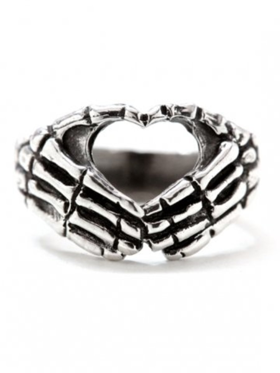 "Available at INKEDSHOP.COM: ""Hand Heart"" Ring by Blue Bayer Design"
