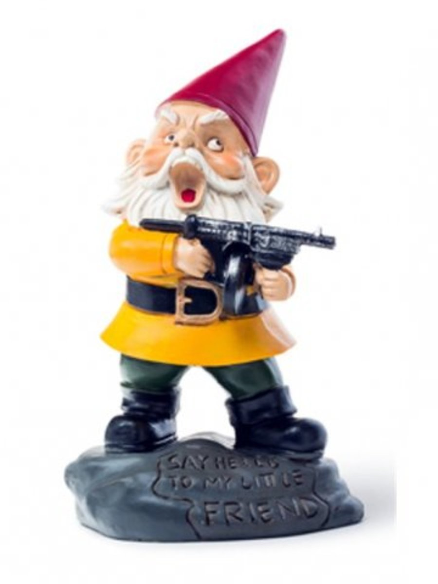 Available at INKEDSHOP.COM: Angry Little Garden Gnome
