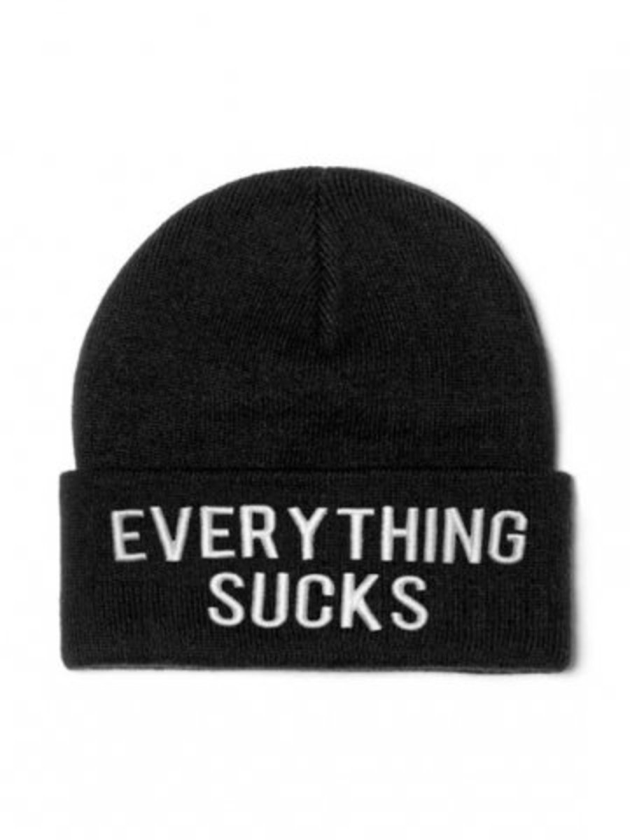 "Available at INKEDSHOP.COM: ""Everything Sucks"" Beanie by Killstar"