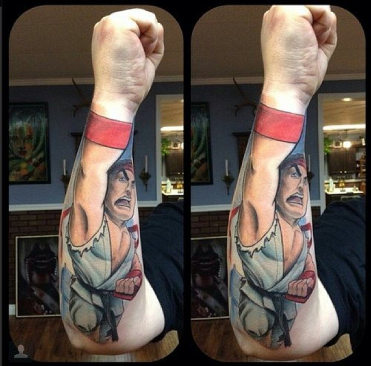 Street Fighter tattoo by Schwab
