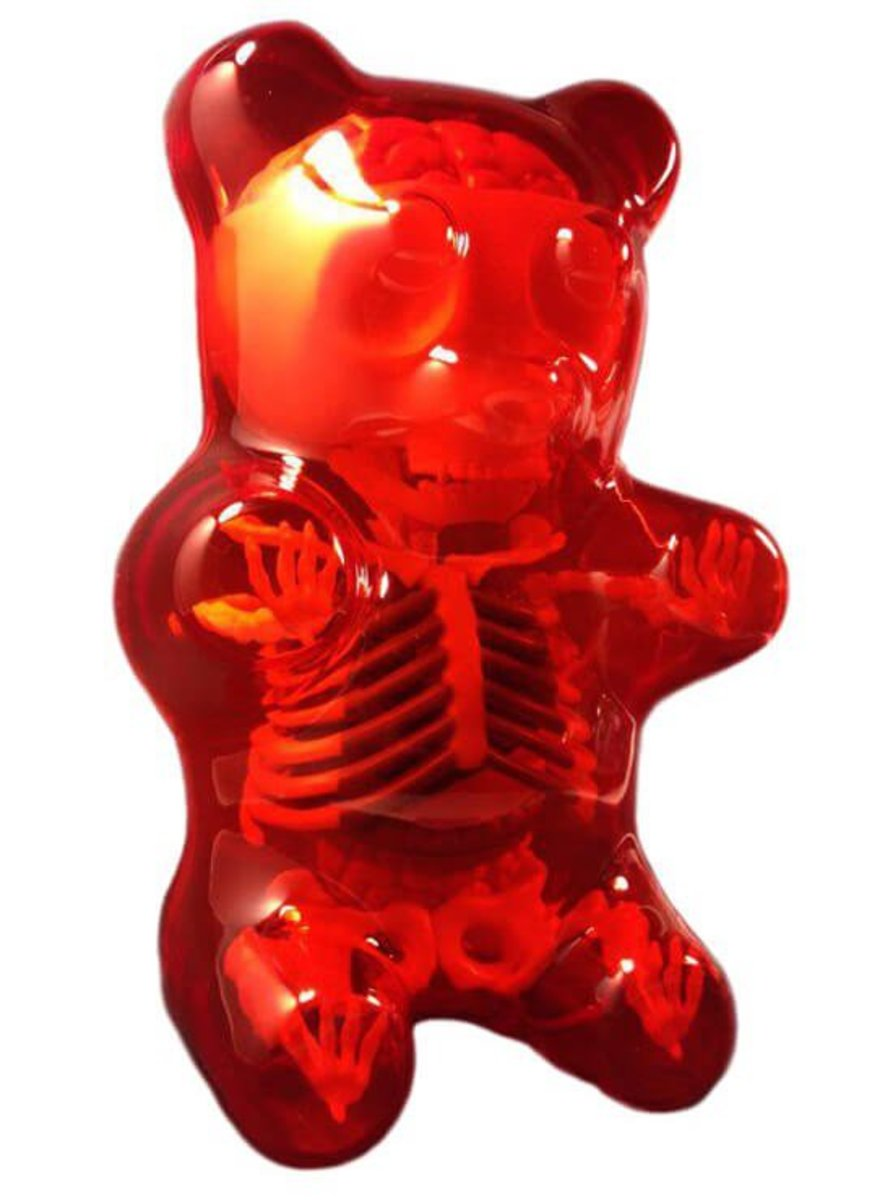 anatomy gummy bear red