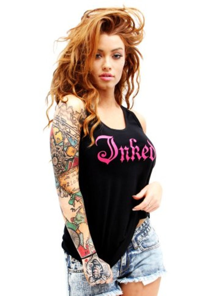 "Available at INKEDSHOP.COM: Women's ""Inked Logo"" Tank"