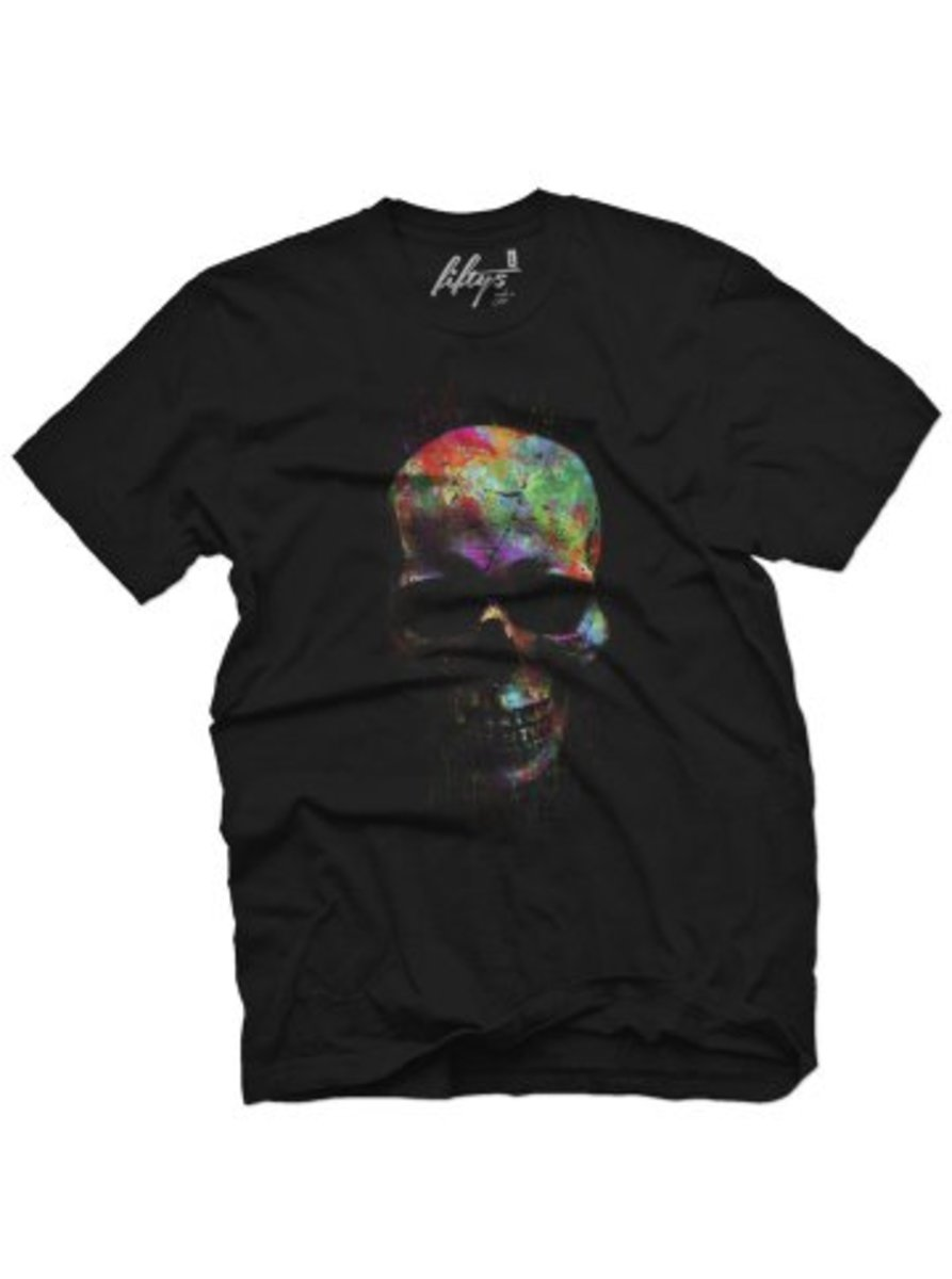 "Available at INKEDSHOP.COM: Men's ""Color Run Skull"" Tee by Fifty5 Clothing"