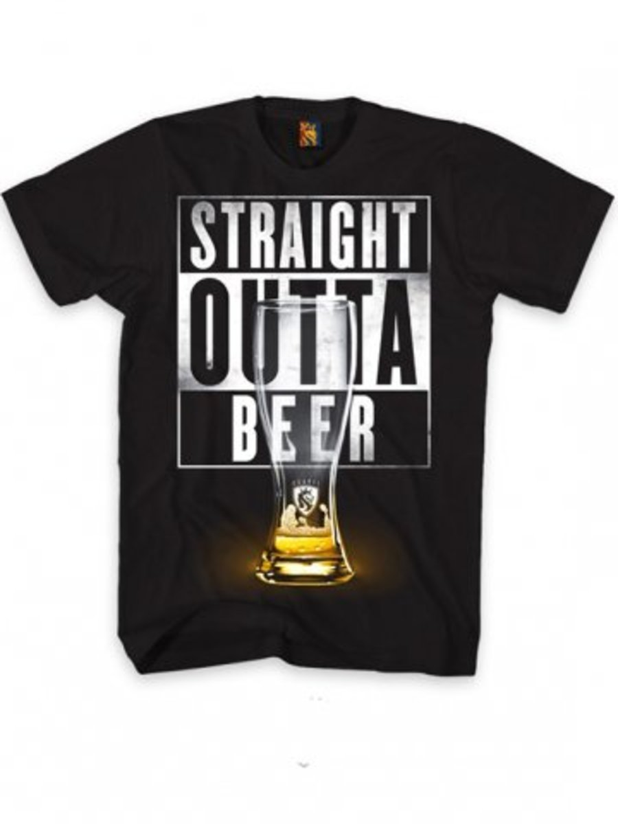 "Available at INKEDSHOP.COM: Men's ""Straight Outta Beer"" Tee by OG Abel"