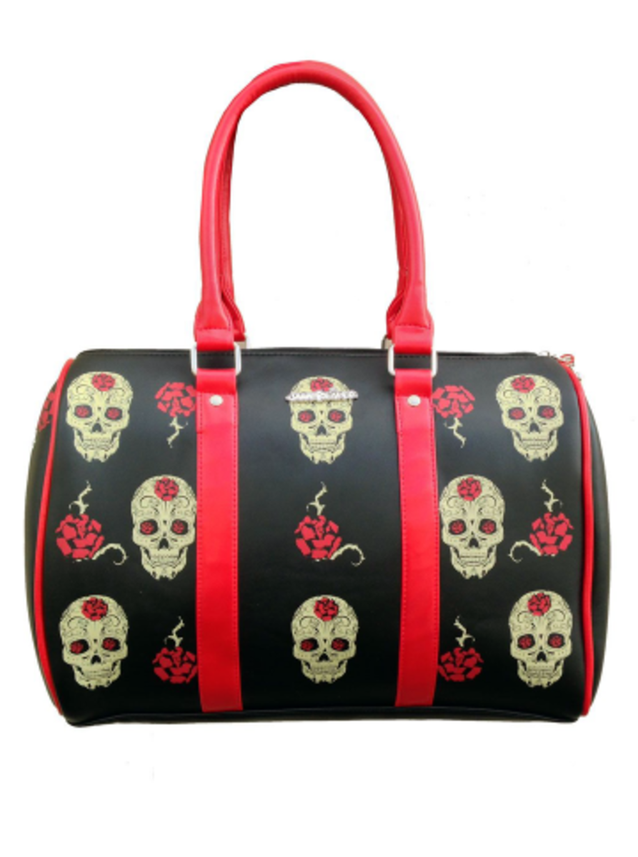 "Available at INKEDSHOP.COM: ""Day of the Dead"" Handbag by Jawbreaker"