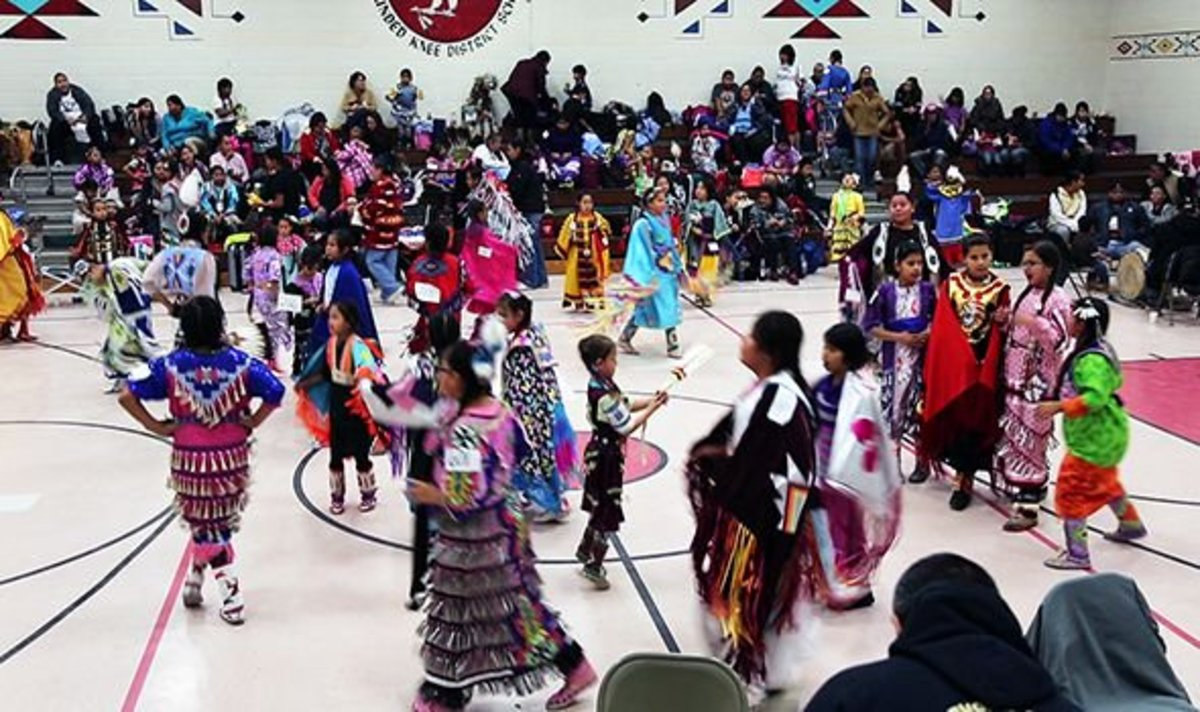 The children of the Wounded Knee District School