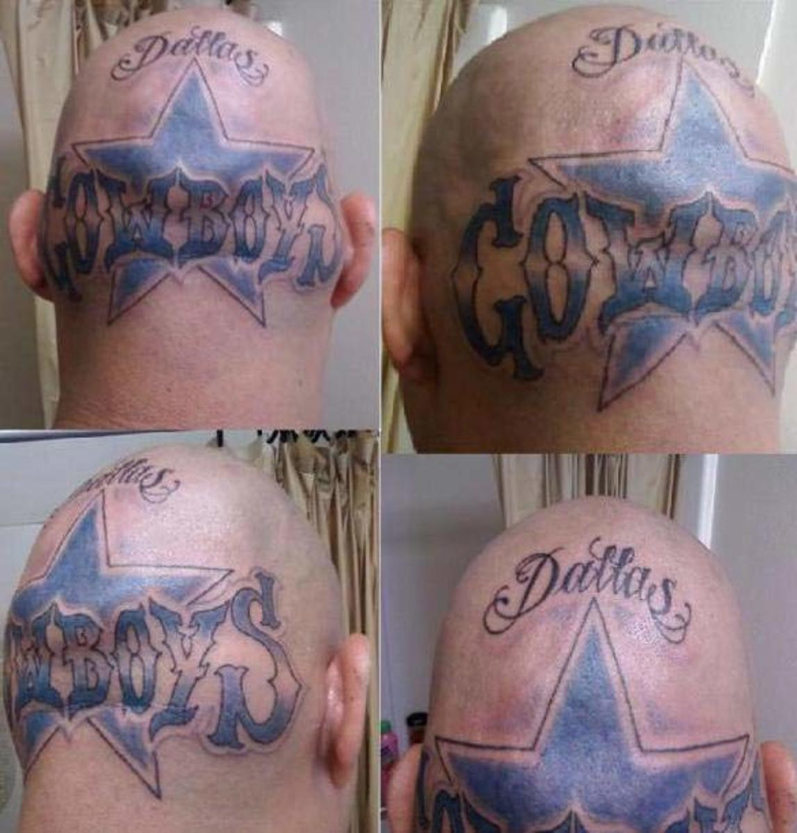 dallas cowboys fan tattoo