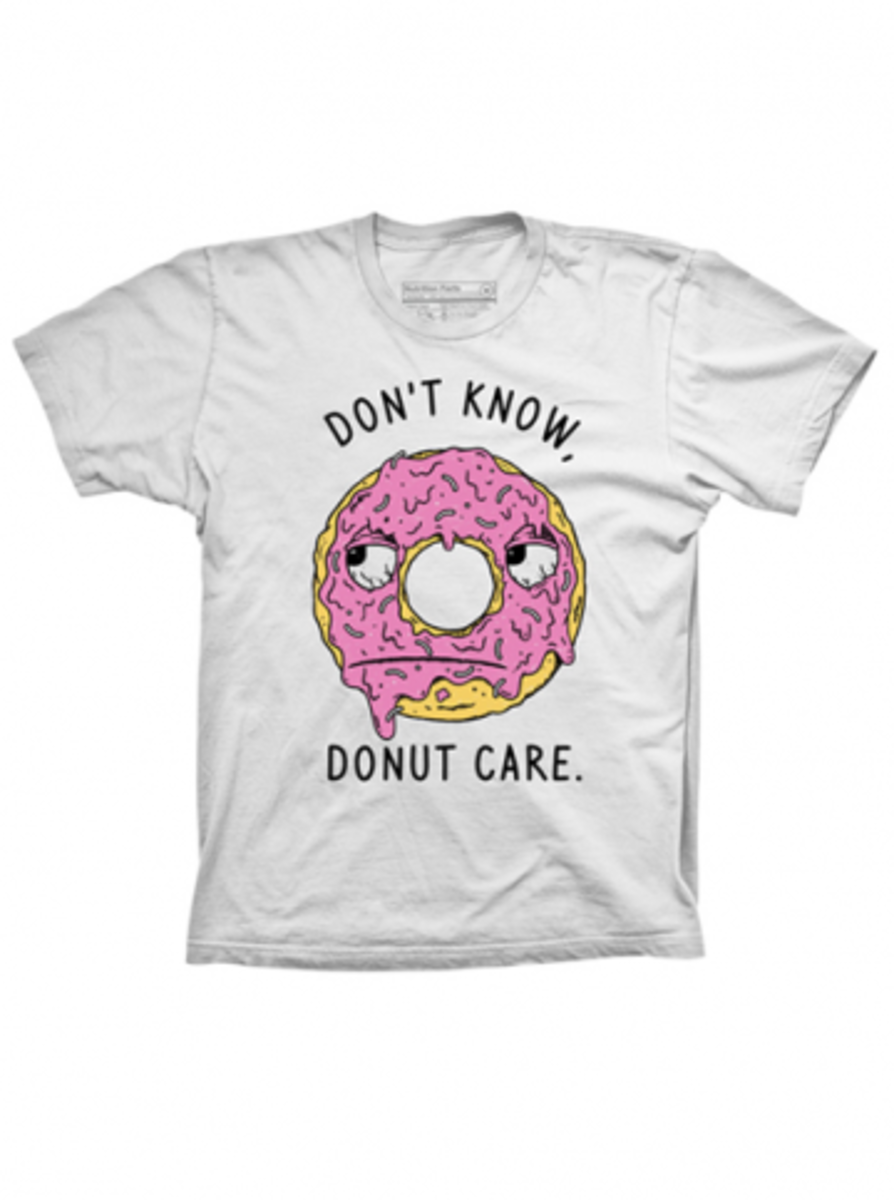 """Available now at INKEDSHOP.COM: Unisex """"Don't Know Donut Care"""" Tee"""